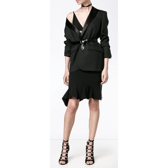 f0700a26 Givenchy Skirts   Black Flounced Pencil Skirt Sz 36 0 Xs   Poshmark